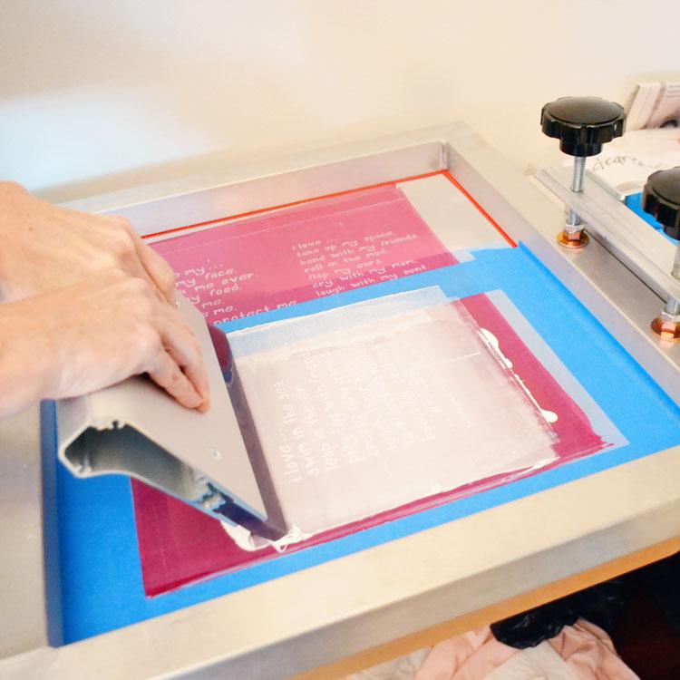 Printing Trendy Little Sweethearts Hand-printed Charity Tshirts