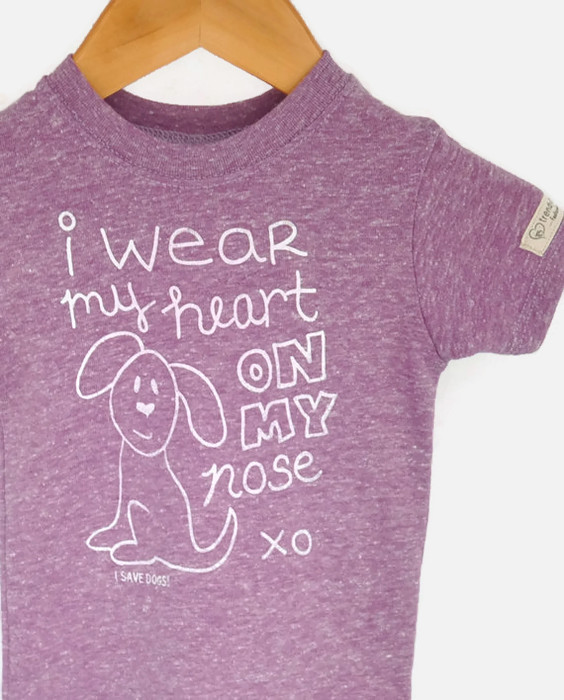Heart on My Nose Dog Rescue Tee   Trendy Little Sweethearts