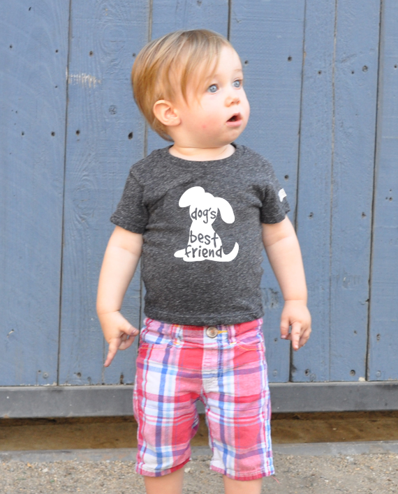 Ecofriendly tshirt, made from recycled bottles and organic cotton. Includes donation to save dogs! at Trendy Little Sweethearts