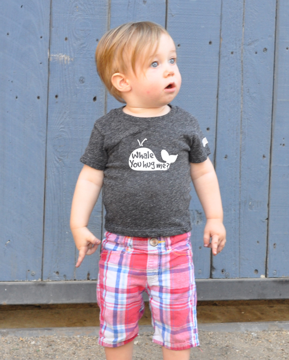 Adorable Save the Whales eco-friendly tshirt for kids, made from recycled bottles and reclaimed cotton | Trendy Little Sweethearts