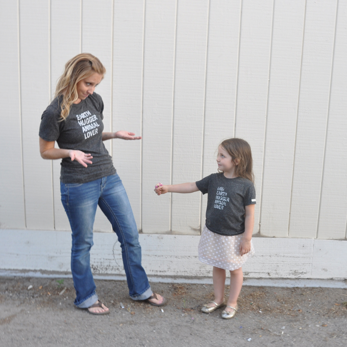 Mommy and me tshirts for animal advocates and moms who love to Save the Earth