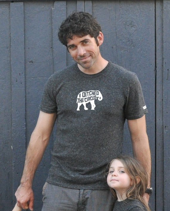 Cute elephant tshirt for adults. Eco-friendly, made from recycled bottles and organic cotton | Trendy Little Sweethearts