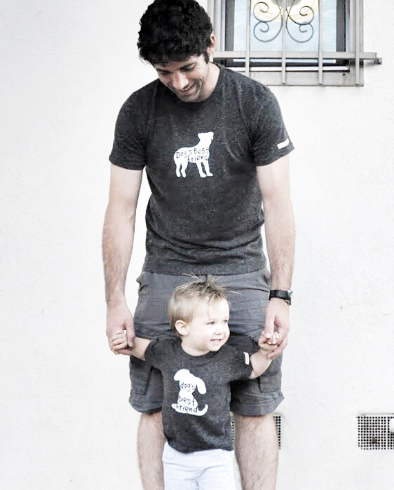 Ecofriendly Adult and child design to save dogs -Dogs best friend set