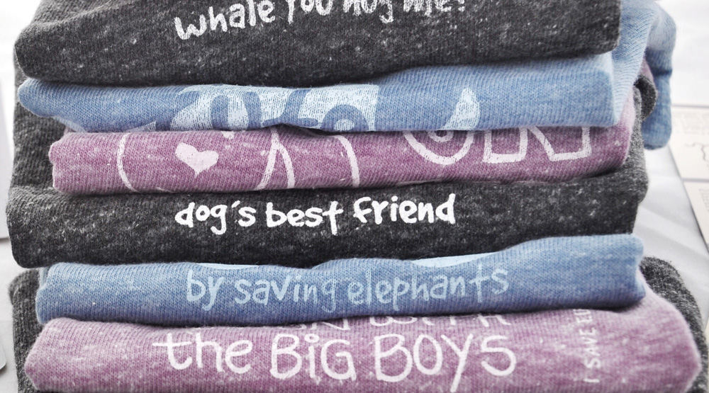 Eco-friendly vintage style animal tshirts for kids