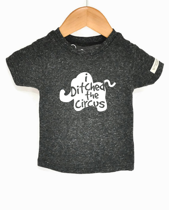 Cute elephant tee for kids. Eco-friendly, made from recycled bottles and organic cotton | Trendy Little Sweethearts