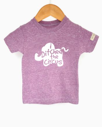 Cute eco-friendly tshirt for kids, made from recycled bottles and organic cotton. Includes a donation to save elephants! at Trendy Little Sweethearts