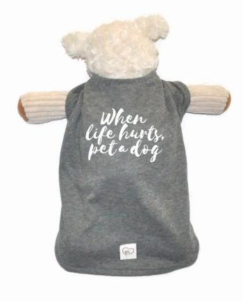 Super cute and soft dog shirt made from recycled bottles and reclaimed cotton! Trendy Little Sweethearts