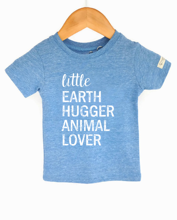 Ecofriendly kids tee, made from recycled bottles and organic cotton. Includes donation to save animals! at Trendy Little Sweethearts