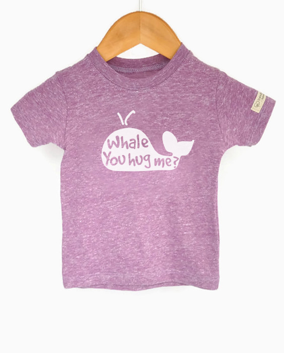Cute Save the Whales tshirt for kids, made from recycled bottles and organic cotton | Trendy Little Sweethearts