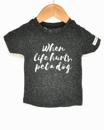 Ecofriendly kids shirt, made from recycled bottles and organic cotton. Includes donation to save dogs! at Trendy Little Sweethearts