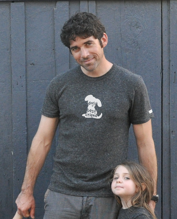 Cute dog tshirt for adults, made from recycled bottles and organic cotton   Trendy Little Sweethearts