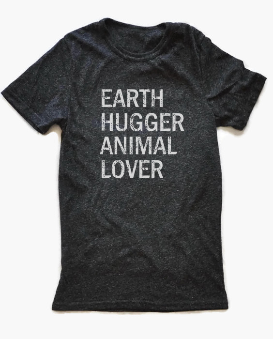 Ecofriendly tshirt, made from recycled bottles and organic cotton. Includes donation to save animals! at Trendy Little Sweethearts
