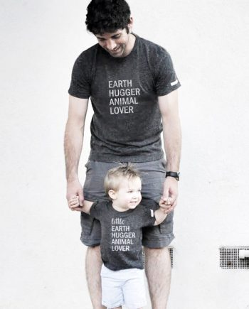 Ecofriendly Adult and child design for Earth Hugger Animal Lover set