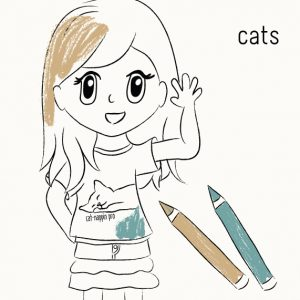 Coloring Book to Learn about Cats