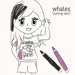 Coloring Book to Learn about Whales
