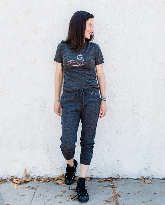 Eco-friendly Cropped Sweatpants | Save the Whales | Trendy Little Sweethearts