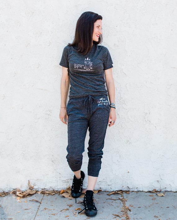 Eco-friendly Cropped Sweatpants | Dog Rescue | Trendy Little Sweethearts