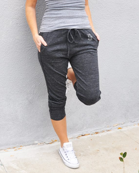 Eco-friendly Cropped Sweatpants with Unicorn   Dog Rescue   Trendy Little Sweethearts