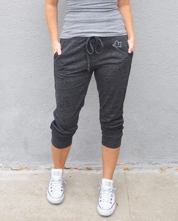 Eco-friendly Cropped Sweatpants | Save Elephants | Trendy Little Sweethearts