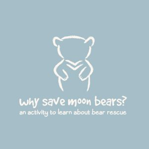 Activity to teach kids about saving moonbears | Trendy Little Sweethearts
