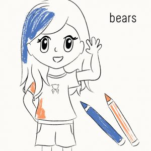 Coloring book to teach kids about saving bears | Trendy Little Sweethearts