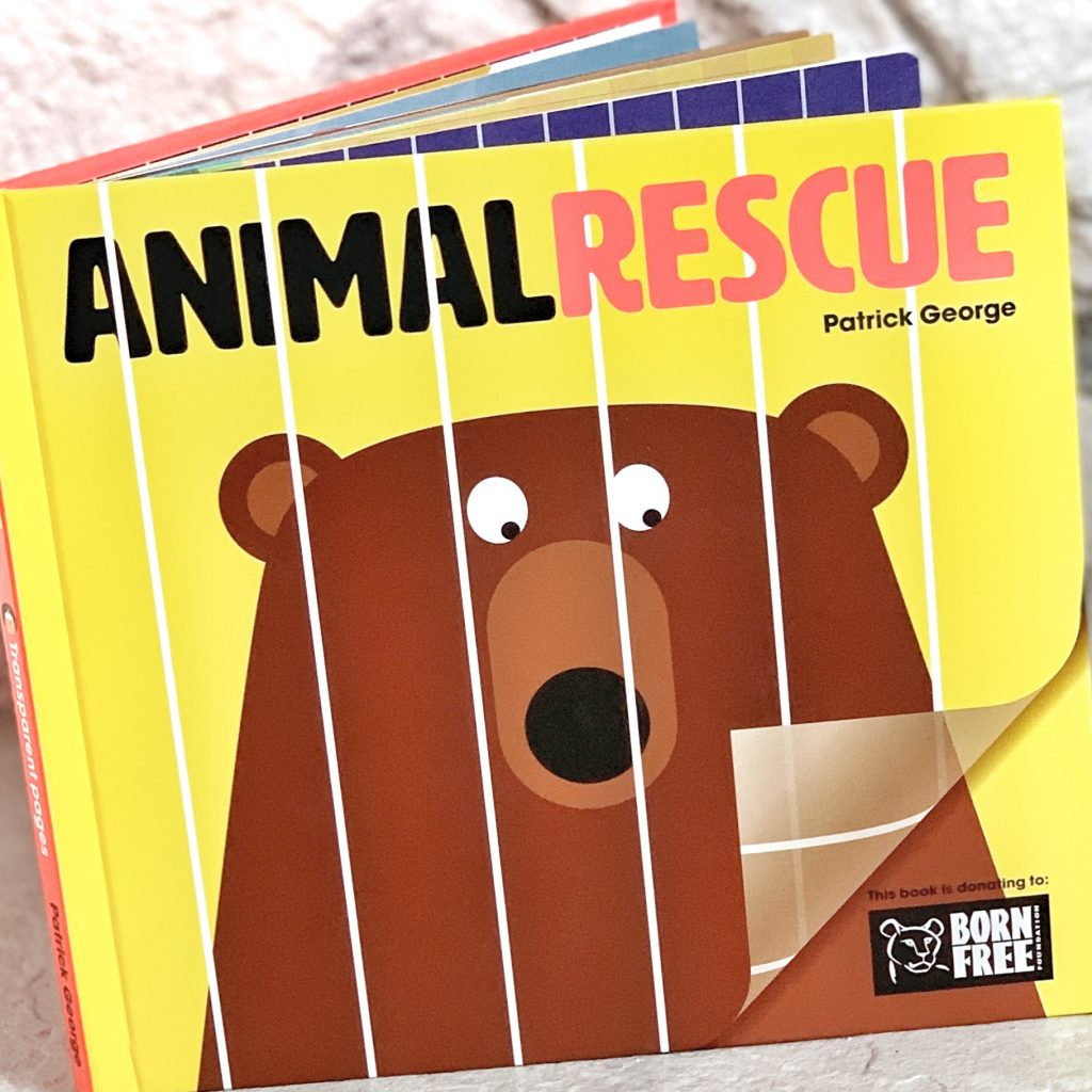 Teach animals for kids with this animal rescue book