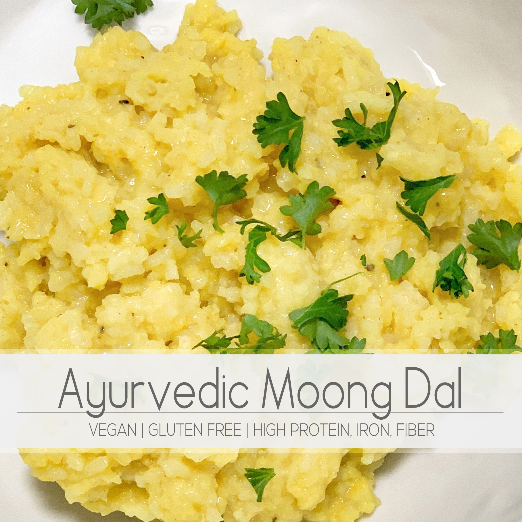 Vegan and gluten free moong dal and rice kitchari recipe. Perfect healing ayurvedic meal. | For Animals For Earth