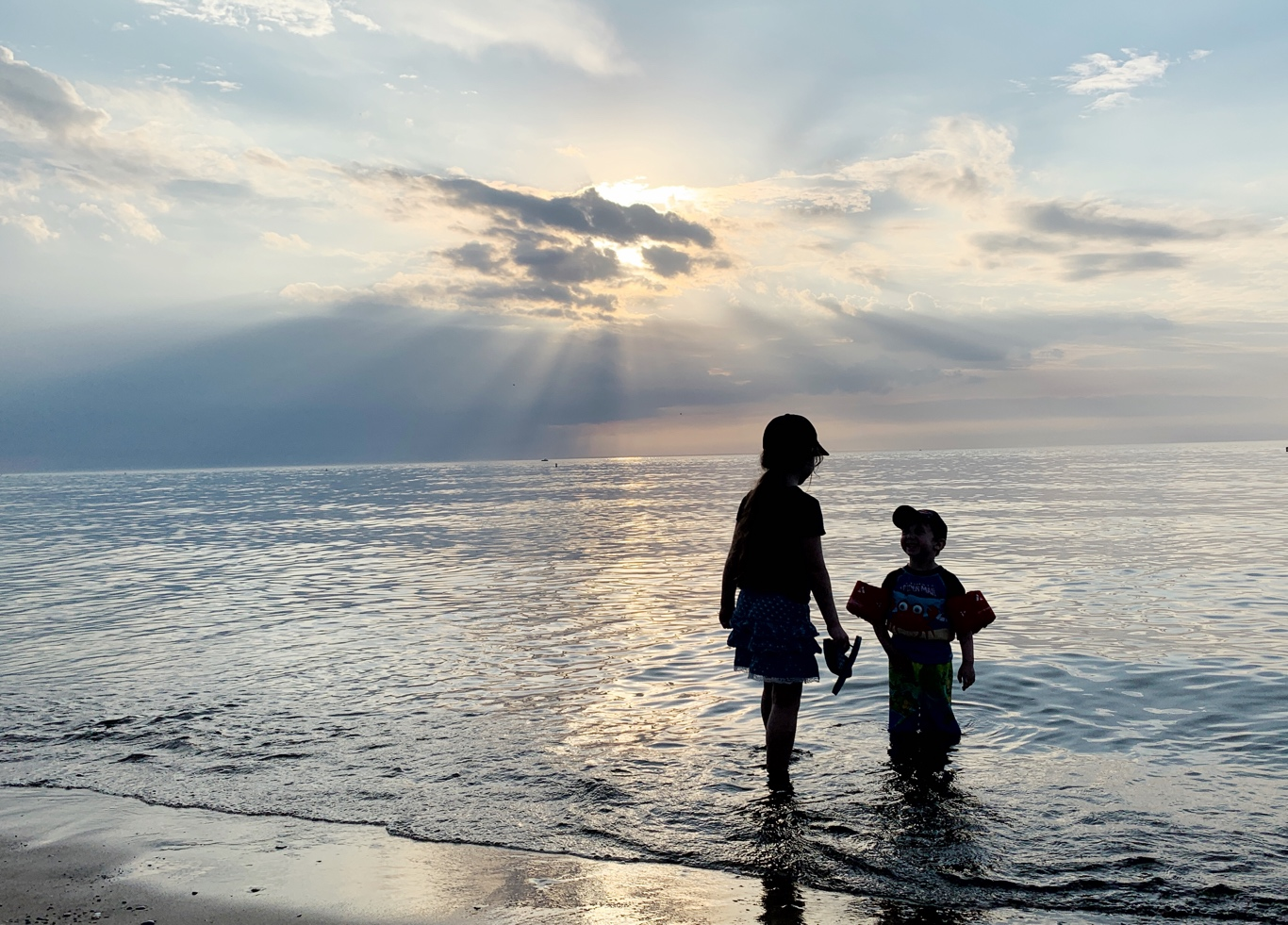 Cool off in Lake Michigan after hiking with kids in Indiana Dunes National Park