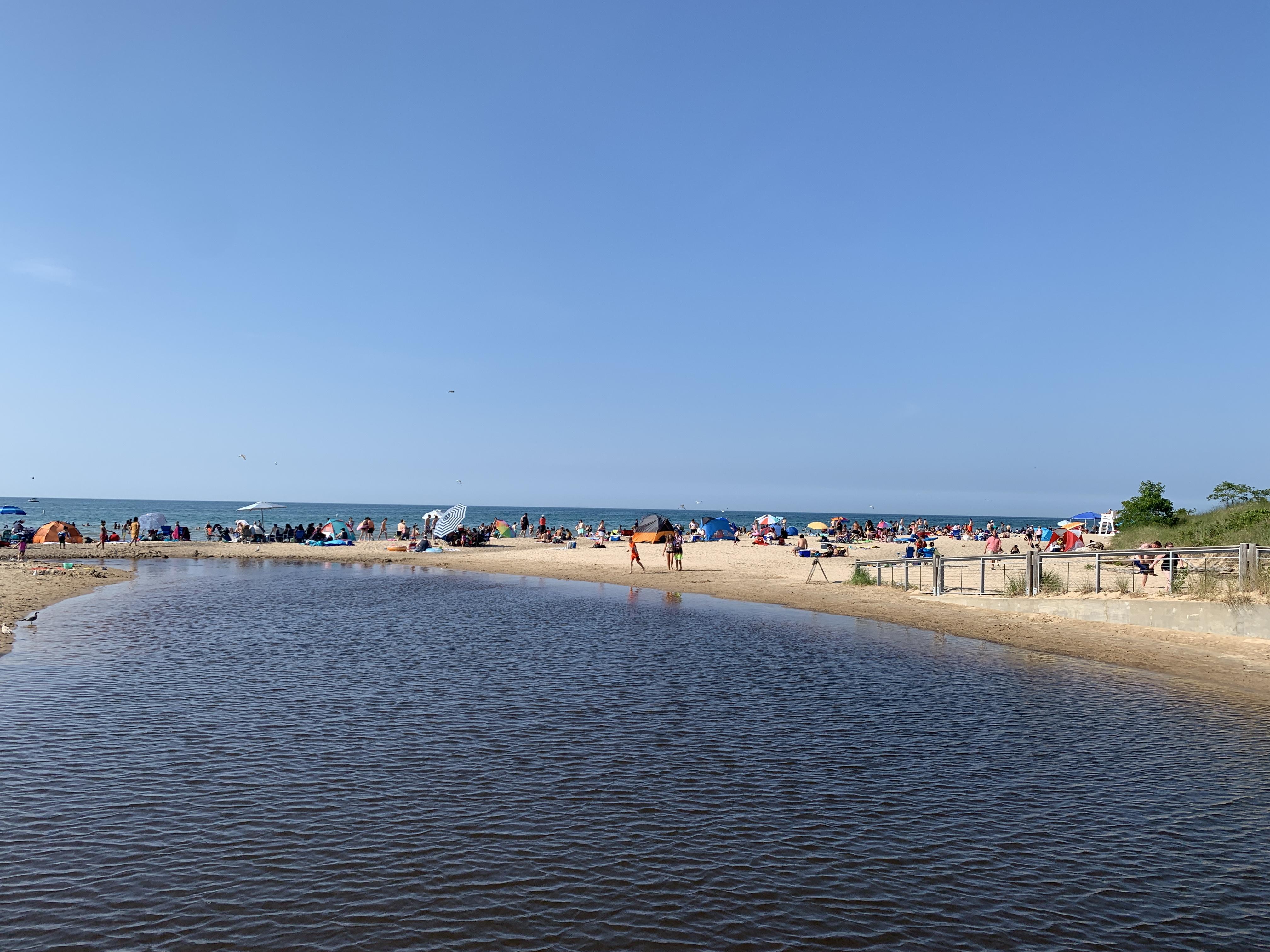 Indiana Dunes Beach on Lake Michigan