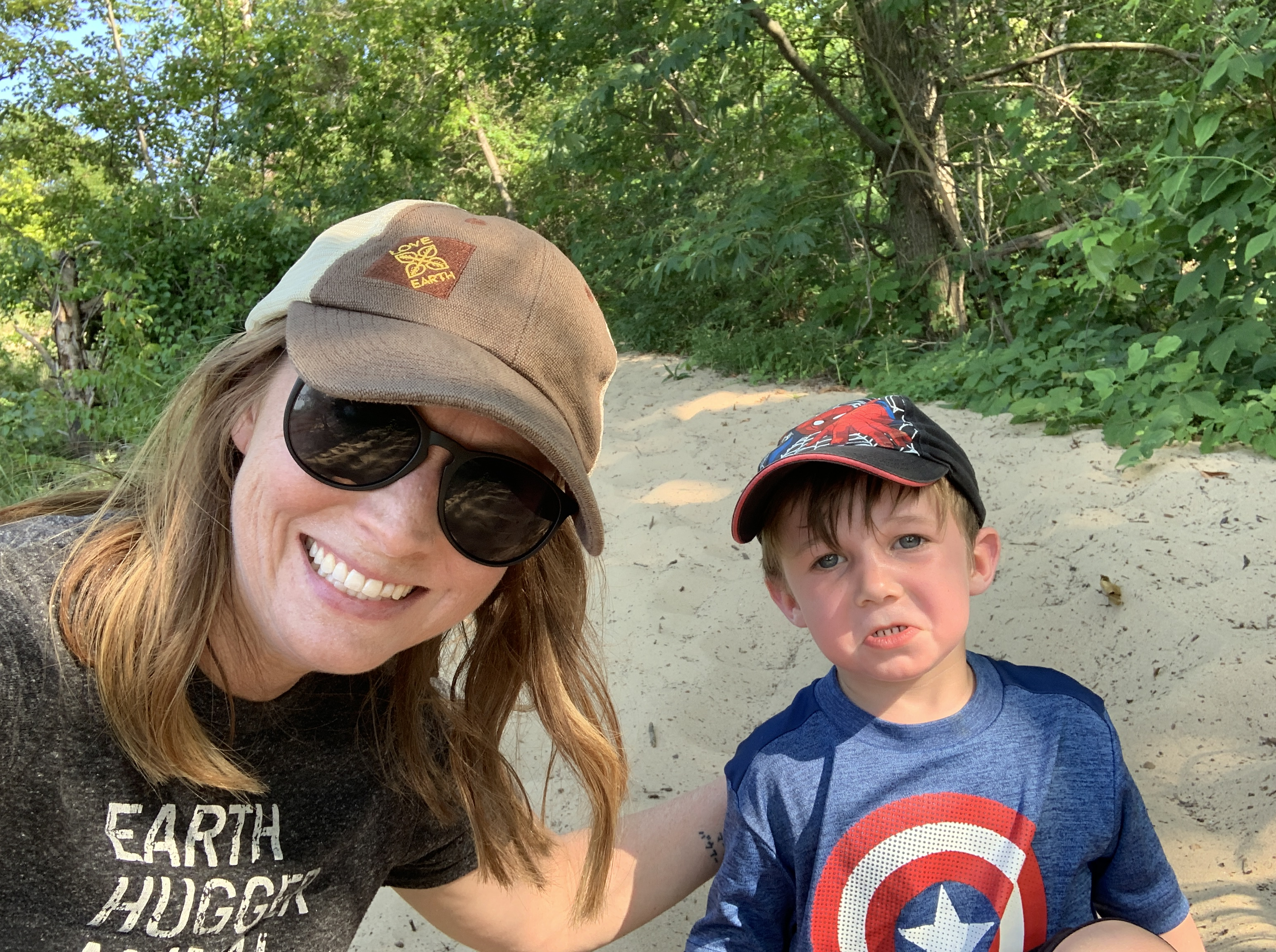 Hiking with kids in Indiana Dunes State Park