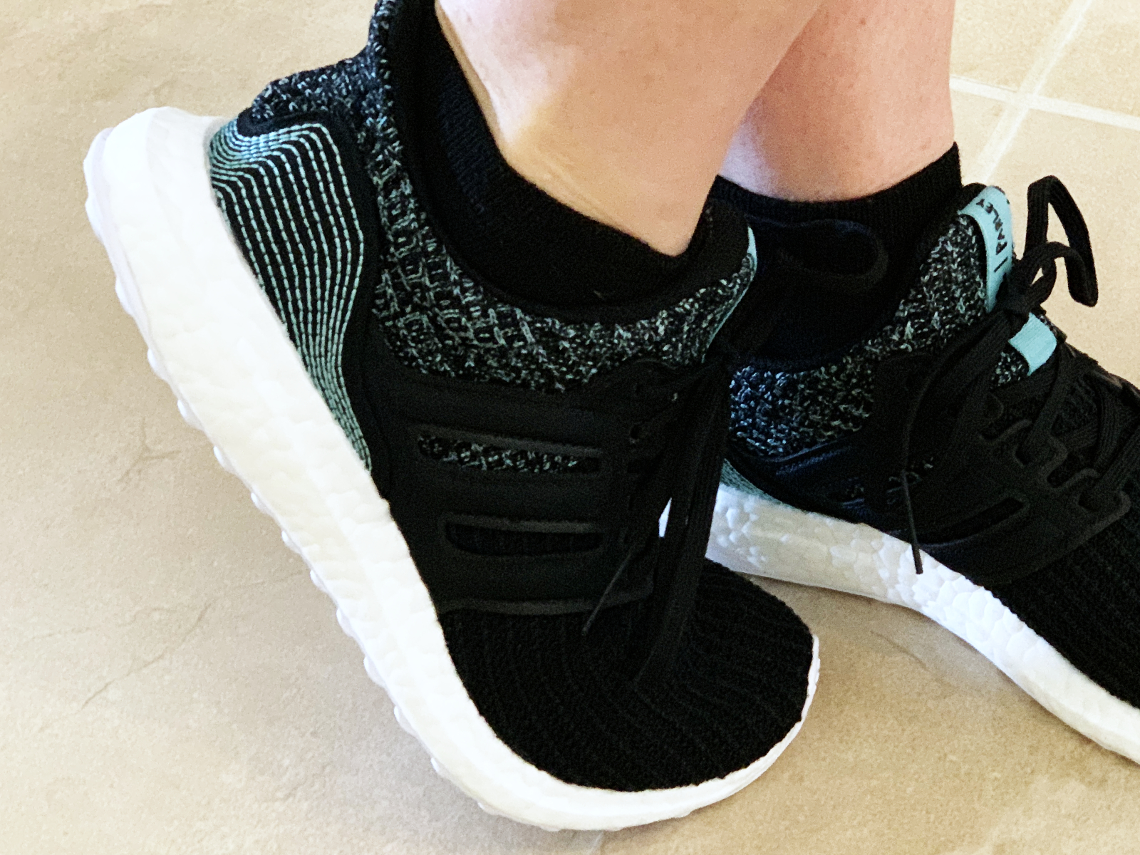 I found a pair of shoes made from recycled plastic. The Adidas Parley Ultra Boost. | For Animals For Earth