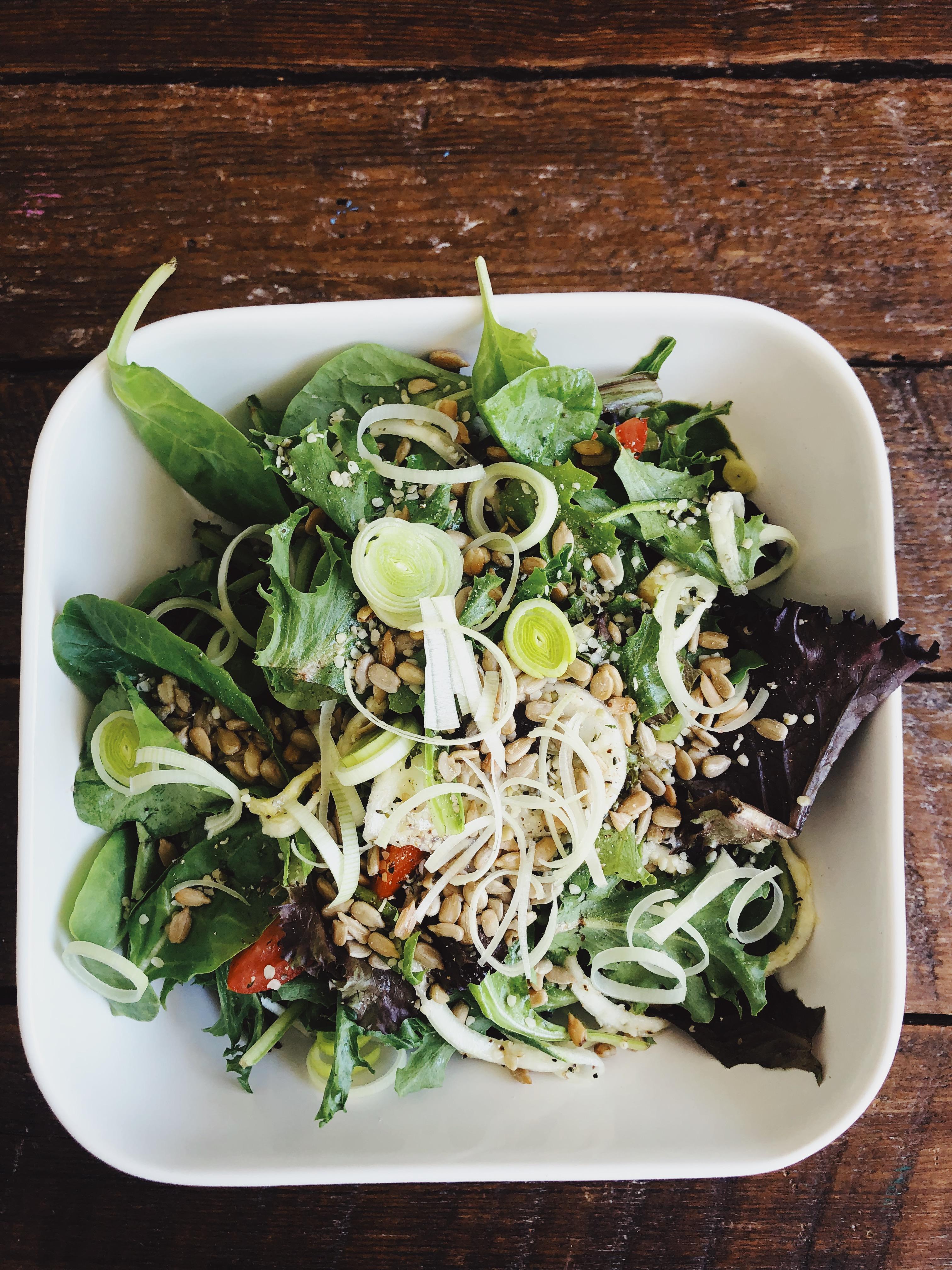 Garden fresh salad for healthy eating with holistic health coach Brooke Freeman