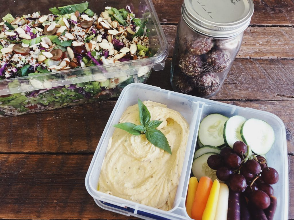 Garden fresh lunch for healthy eating with holistic health coach Brooke Freeman
