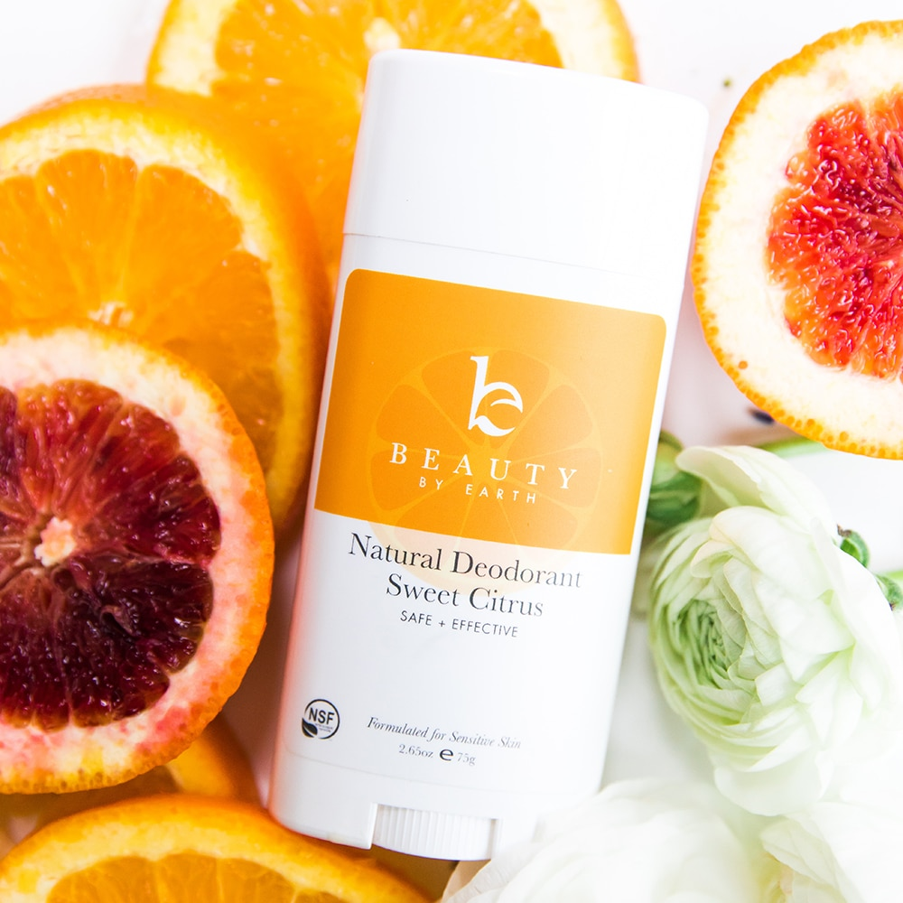 I finally found a natural deodorant that works! Beauty by Earth Sweet Citrus Natural Deodorant makes me smell like oranges when I sweat. It's kind of a miracle! | For Animals For Earth
