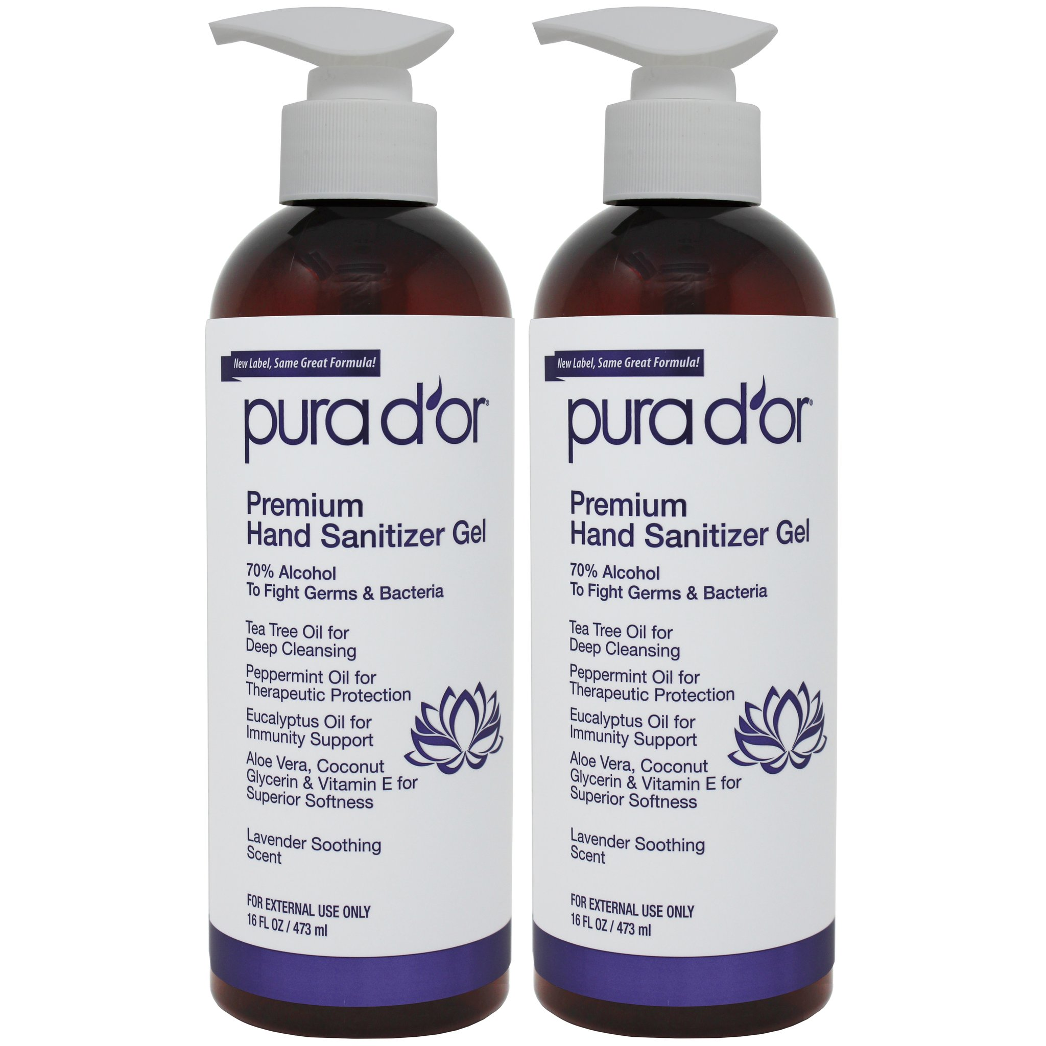 Non toxic, cruelty free hand sanitizer from Pura d'or | For Animals For Earth