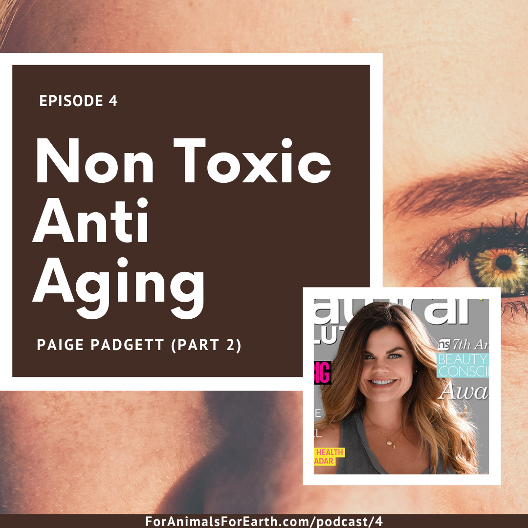 A chat about green beauty with Paige Padgett on the For Animals For Earth Podcast. Episodes 3, 4 and 5. In episode 4, we talk about natural ways to combat anti aging. | For Animals For Earth