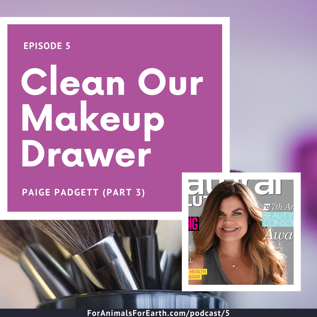 Free 5 Day Clean Beauty Challenge with Paige Padgett from Erthling. Listen to Paige on the For Animals For Earth Podcast | For Animals For Earth