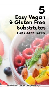 Easy vegan and gluten free substitutes for your kitchen. For Animals For Earth