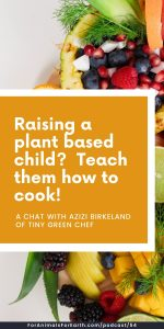 Azizi Birkeland joined me from Bali, Indonesia to talk about Tiny Green Chef, her business designed to teach plant based cooking with kids. Episode 46 for the For Animals. For Earth. podcast